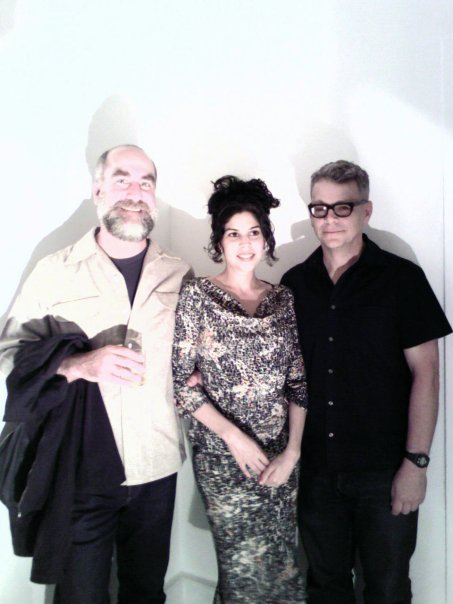 With fellow artists Dean Smith and J. John Priola.